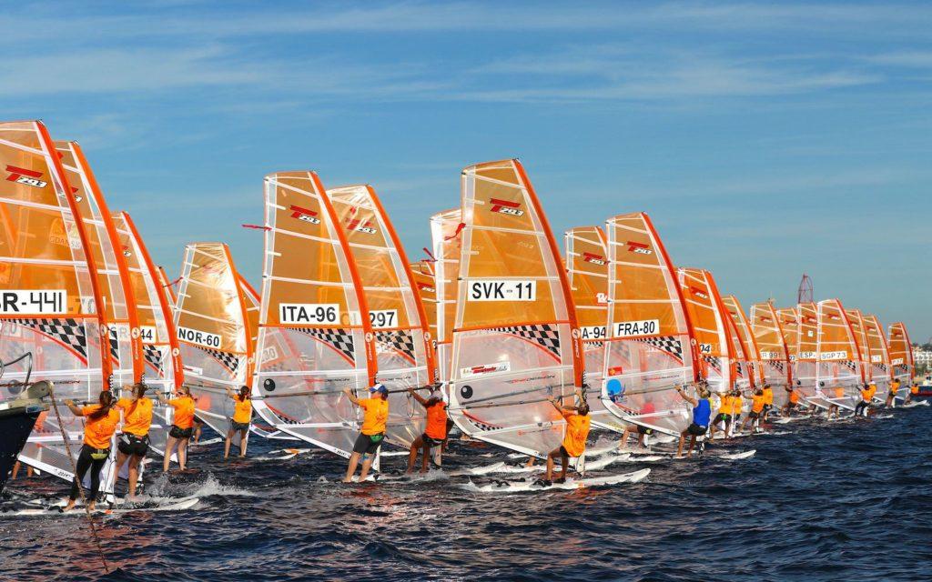 Mondial Windsurf  Techno 293 à SALOU (ESP)