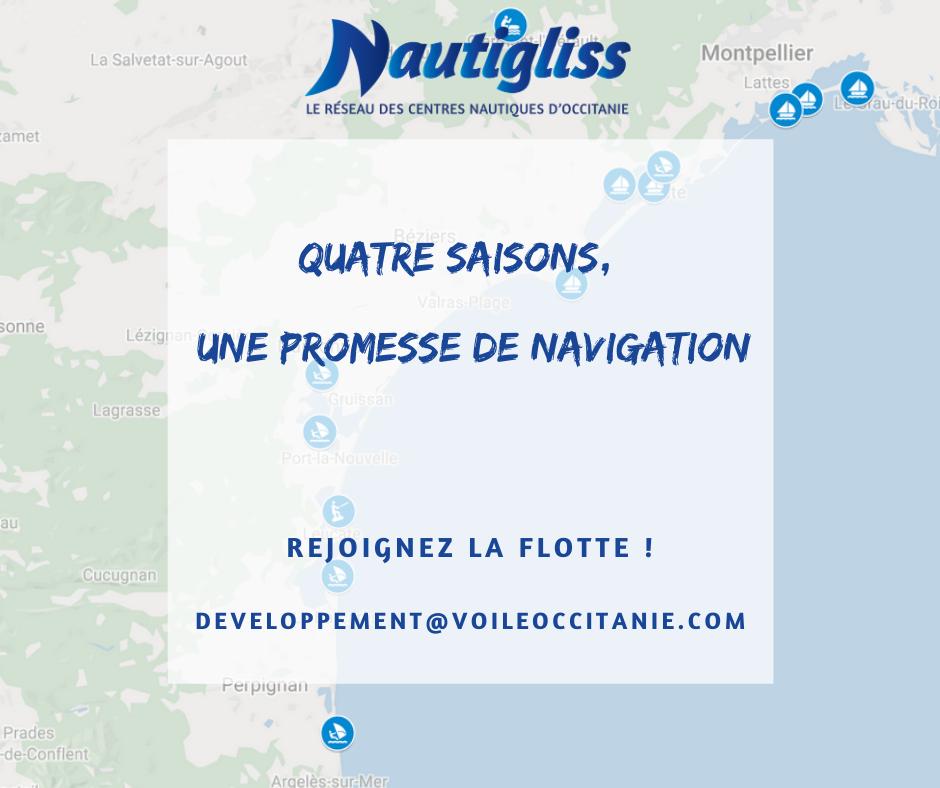 Nautigliss, le réseau des centres nautiques d'Occitanie