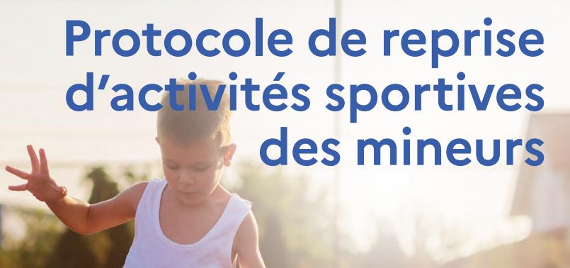 Reprise des activités sportives pour les mineurs