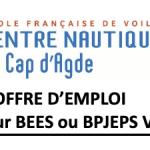 Offre d'emploi – Moniteur BEES ou BPJEPS Voile