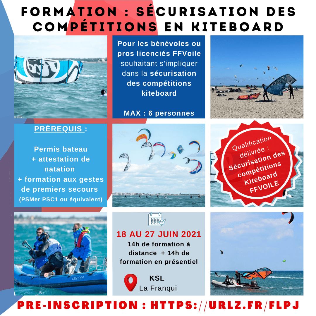 Formation sécurisation des compétitions en KiteBoard à Leucate La Franqui