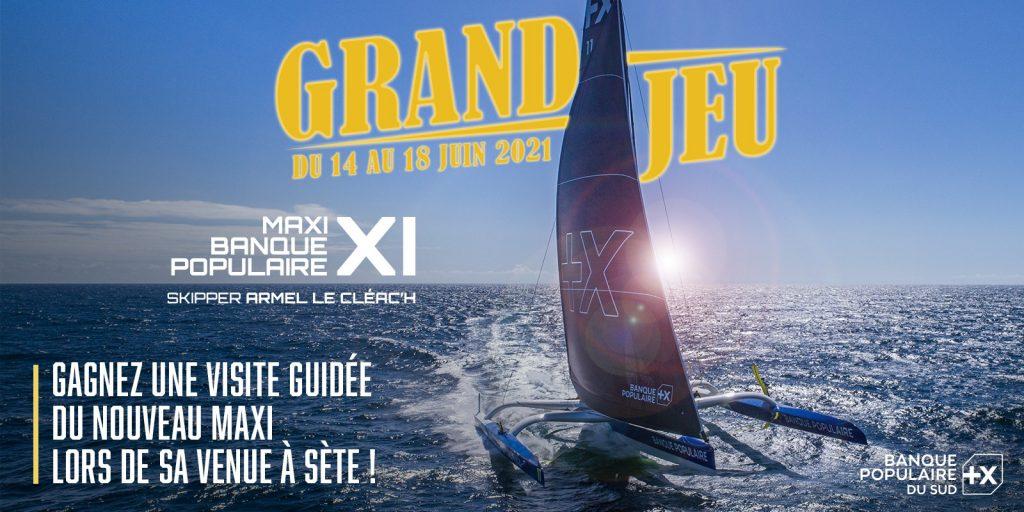 Jeu concours – visite guidée Maxi Trimaran lors de sa venue à Sète le 26 juin 2021