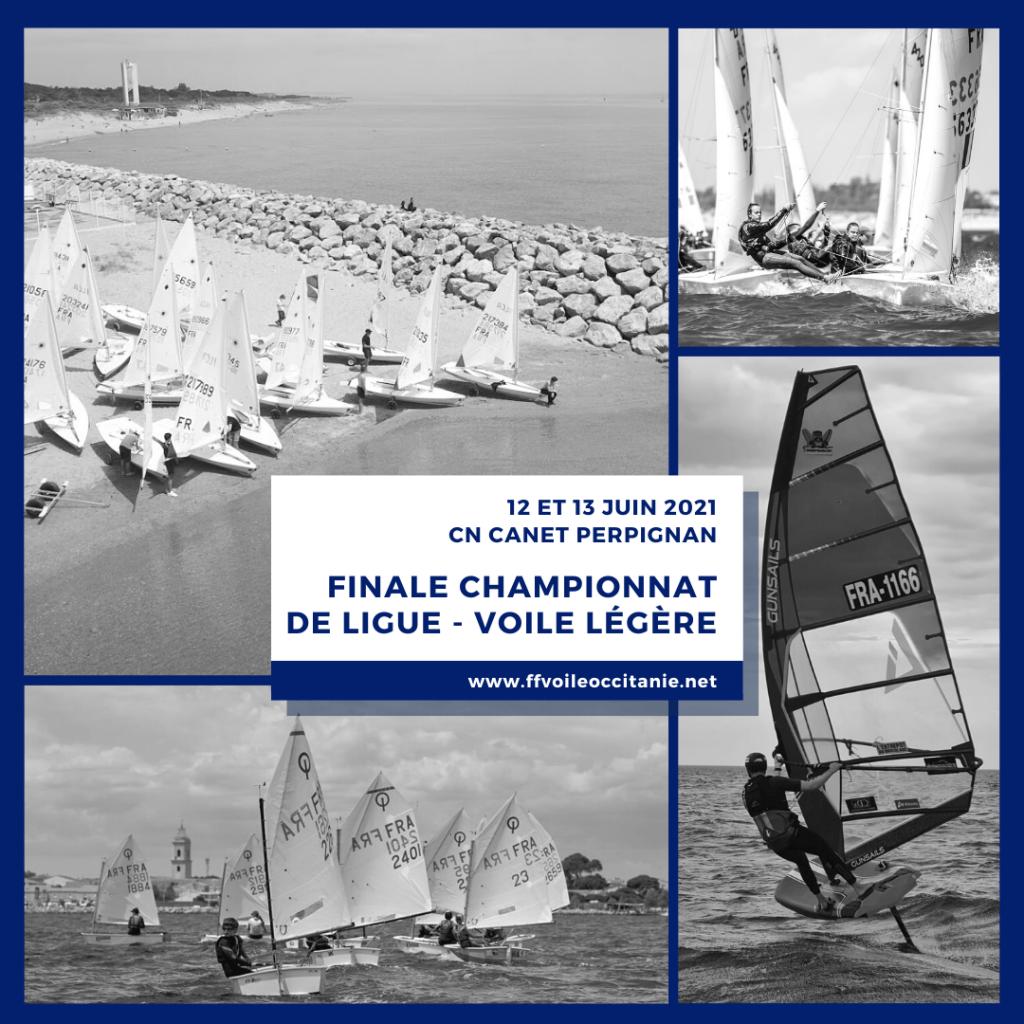 Finale du CHAMPIONNAT de LIGUE 12 et 13 JUIN 2021 – VOILE LEGERE